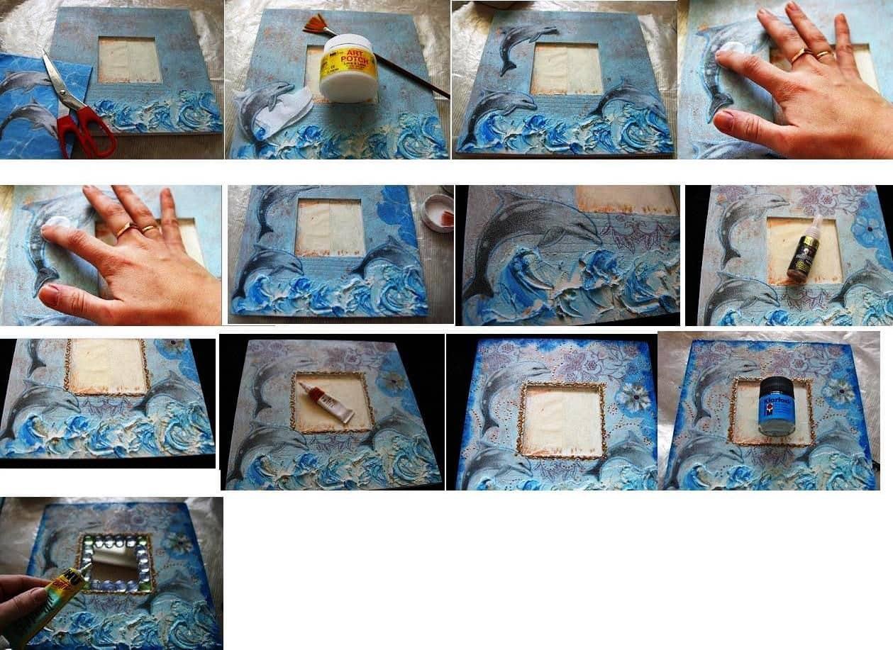 Как сделать рамку для зеркала своими руками