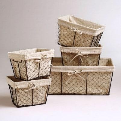 Контейнер для хранения пакетов из проволочной решетки | Как хранить пакеты на кухне: идеи и лайфхаки