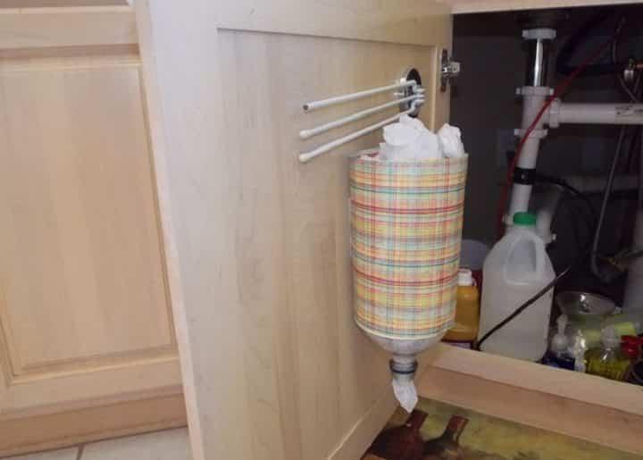 Хранение пакетов в пластиковой бутылке — несколько способов | Как хранить пакеты на кухне: идеи и лайфхаки