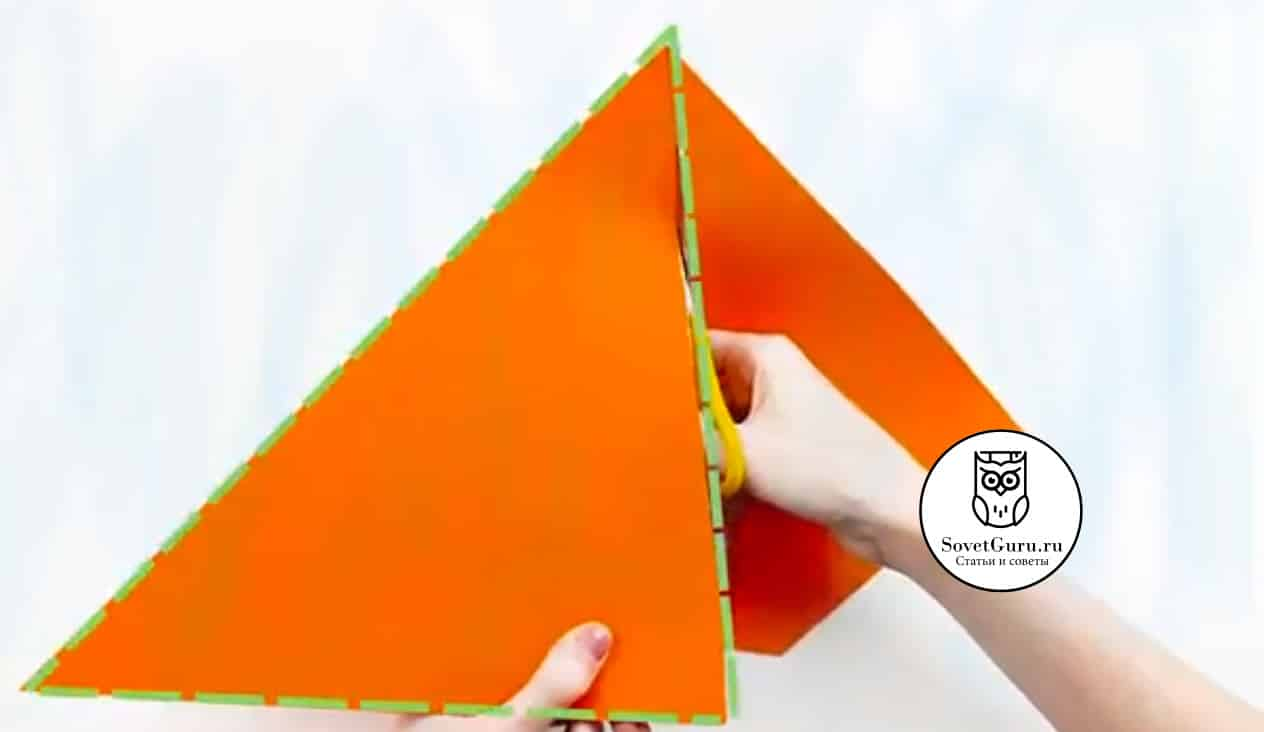 Как сделать конус из треугольника | Как сделать конус из бумаги пошаговая инструкция