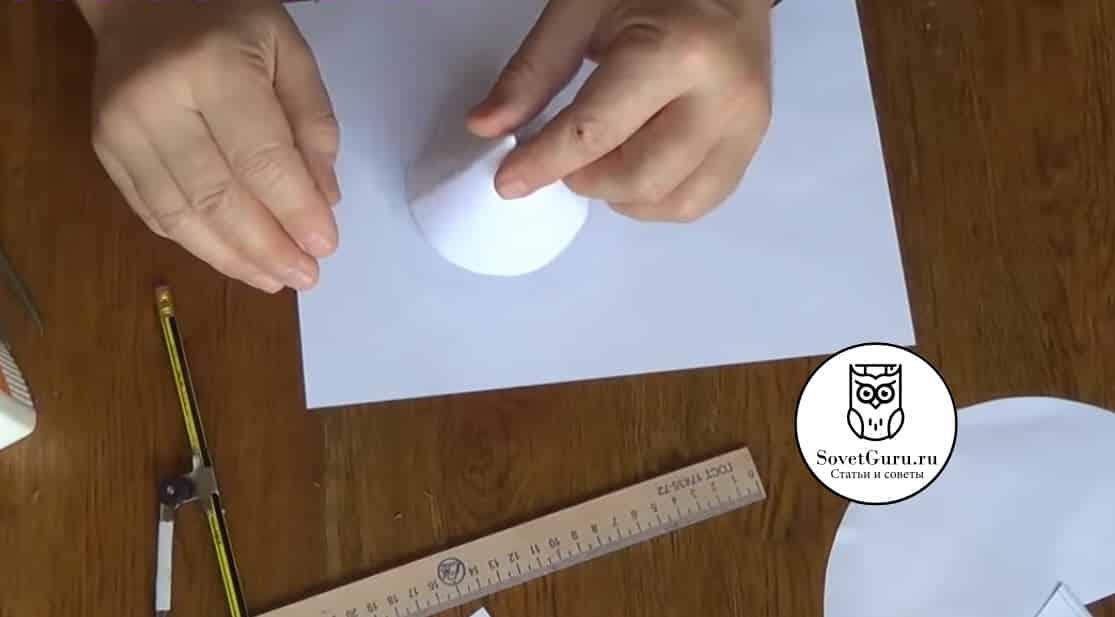Как сделать конус из круга | Как сделать конус из бумаги пошаговая инструкция