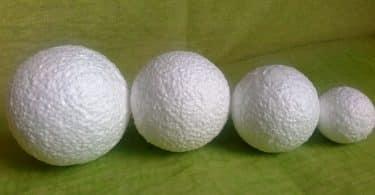 Как сделать шар из пенопласта своими руками: пошаговые инструкции с фото и видео