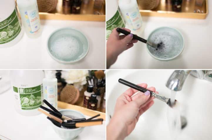 Моем кисти для макияжа моющим средством и шампунем | Как мыть кисти для макияжа в домашних условиях