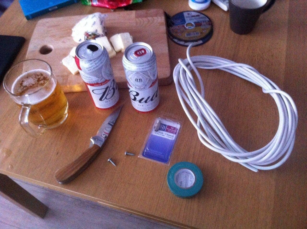 Необходимые инструменты и материалы | Как сделать антенну из пивных банок