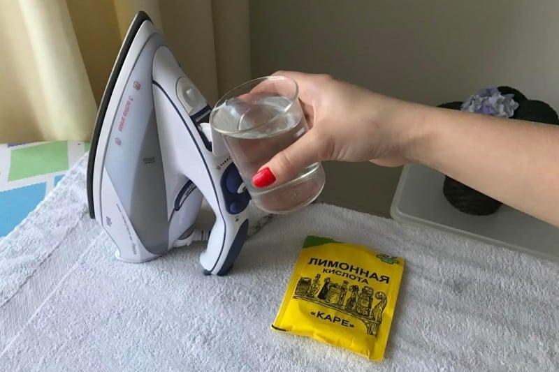 Чистка утюга лимонной кислотой