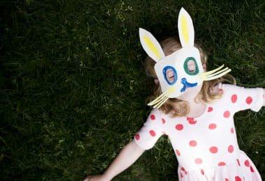 Маска зайца на голову из бумаги: как сделать, чем украсить + 30 шаблонов, чтобы распечатать