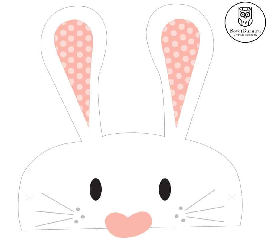 Скачать и распечатать маску зайца