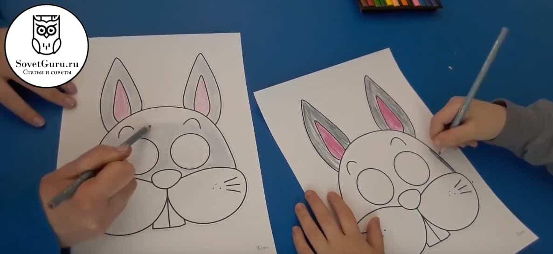 Как сделать маску зайца своими руками
